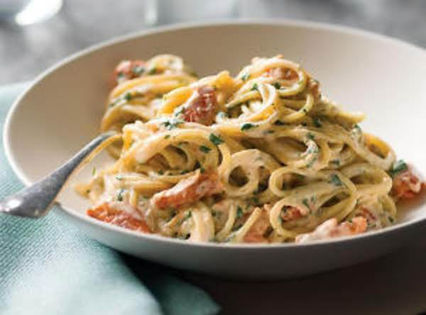 Pasta With Smoked Salmon And Sun-dried Tomatoes Recipe