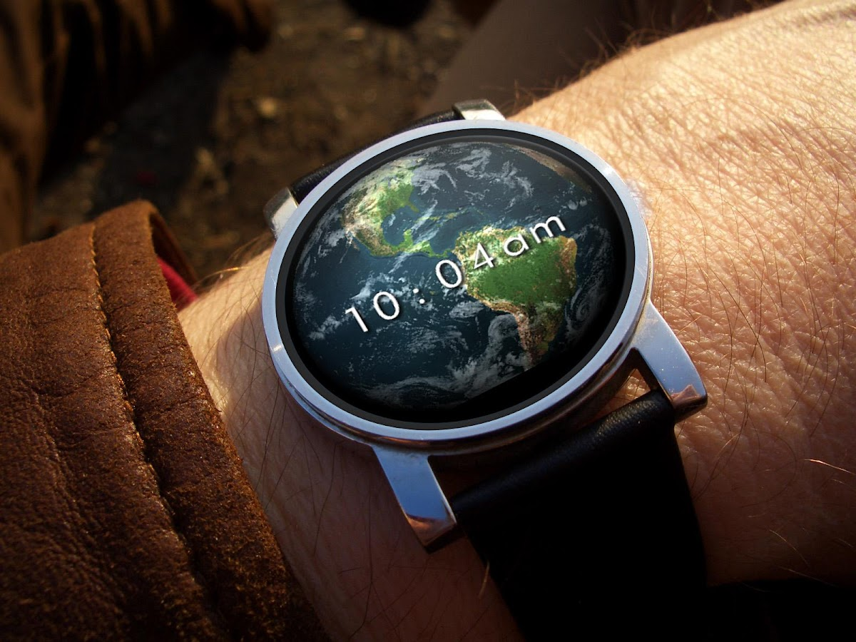 Earth 3D Watch Face- screenshot