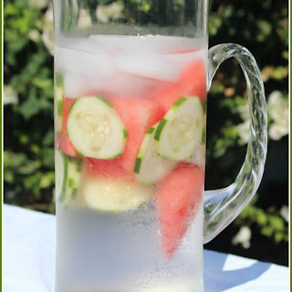 Cucumber and Watermelon Infused Water