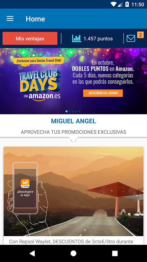 Travel Club App- screenshot