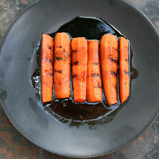 Grilled Carrots with Rosemary Balsamic Reduction