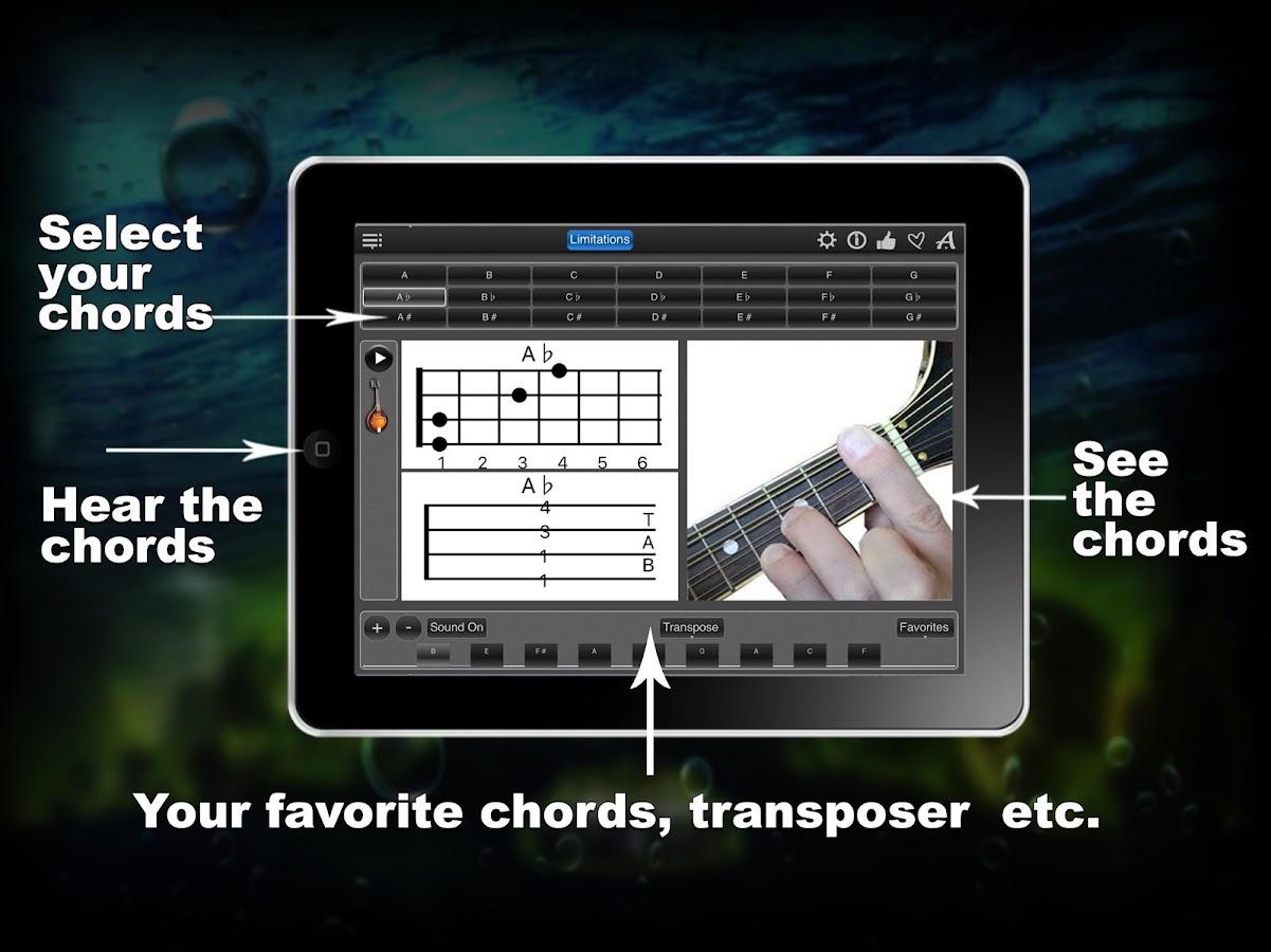 Mandolin chords lite android apps on google play mandolin chords lite screenshot hexwebz Images