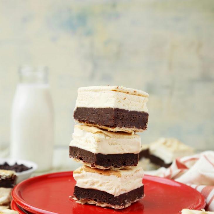 Saltine Cracker-Brownie Ice Cream Sandwich