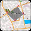 Distance Calculator Map Land Measurement icon