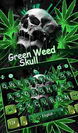 Download Green Weed Skull Keyboard Theme MOD APK 1