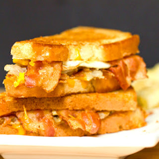 Bacon, Egg & Hash Brown Grilled Cheese Sandwich Recipe