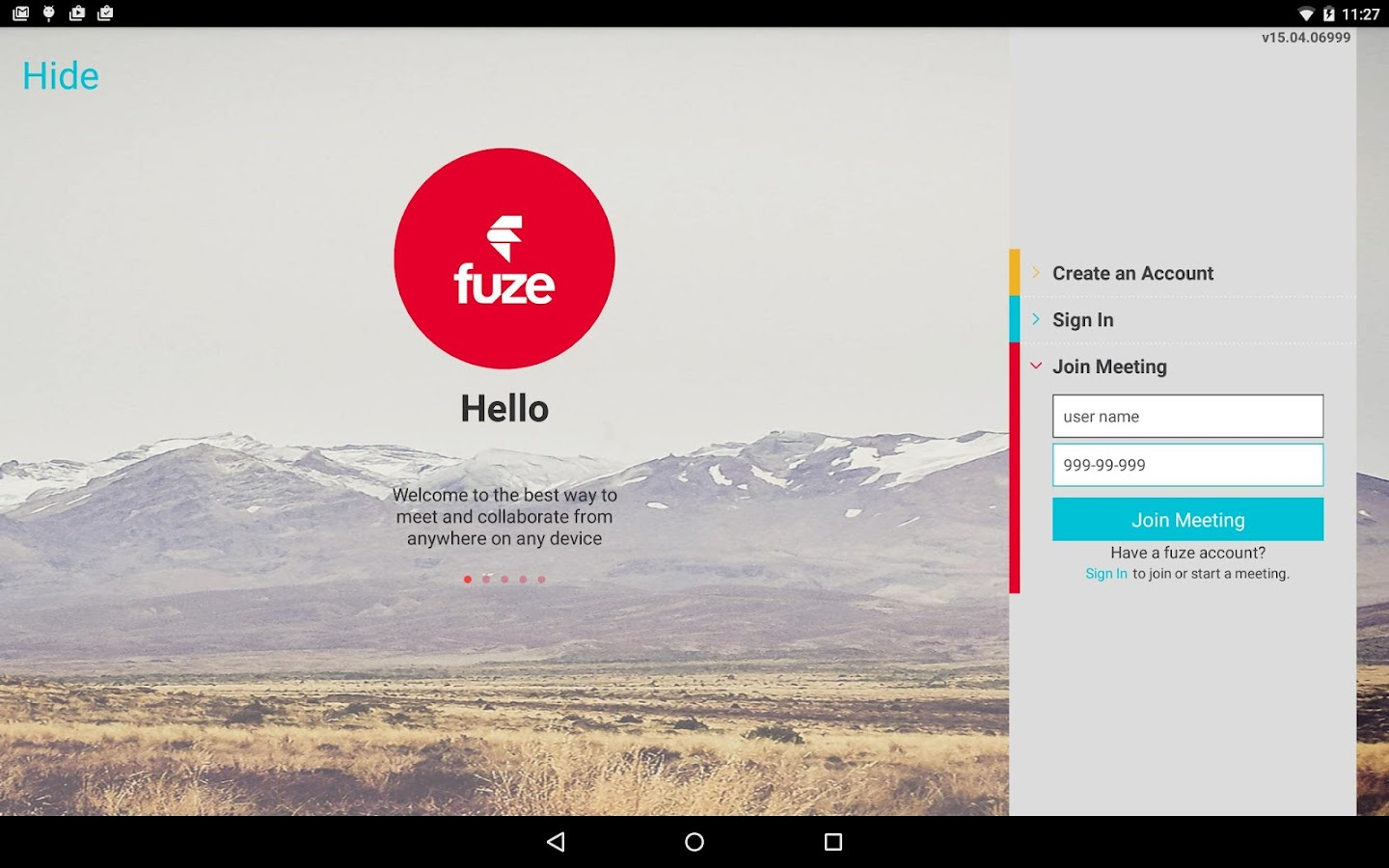 Fuze Meetings- screenshot