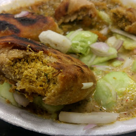 Litti Chokha by Chintan Daiya - Food & Drink Plated Food ( litti, food, spicy, bihar, india, chokha )