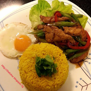 Kecap Manis Chicken with Turmeric Ginger Rice (30 minutes meal)