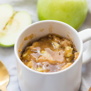Paleo Caramel Apple Microwave Cake Recipe