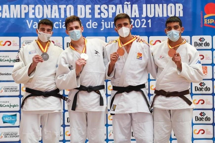 Los cuatro medallistas de Andalucía.