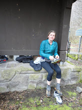Photo: Shoe exchange at the first aid station/drop bag ~10m.