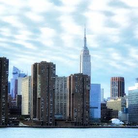Manhattan  by Aurelio Firmo - City,  Street & Park  Skylines ( manhattan, skyline, new york )