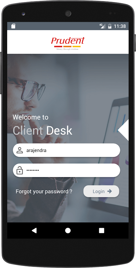 Prudent Client Desk- screenshot