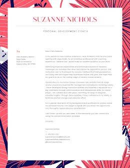 Suzanne Nichols - Cover Letter item