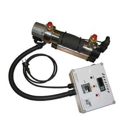 Aqualine cirkulerande varmvattensystem 230 Volt 3000 Watt Med digital kontrollbox