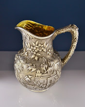 Photo: http://www.RareSterling.com RareSterlng.com - Kirk and Son Sterling Castle Water Pitcher