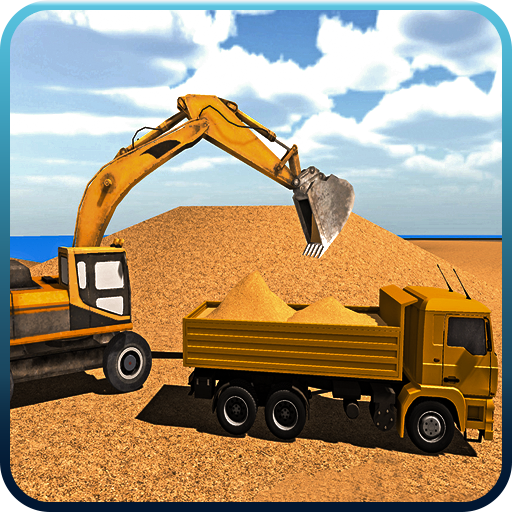 Excavator Constructor City Road Build Simulation
