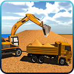 Excavator Constructor City Road Build Simulation Icon