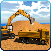 Excavator Constructor City Road Build Simulation