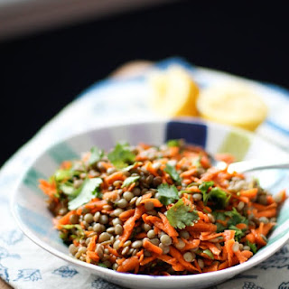 Lentil Salad with Carrots and Cilantro.