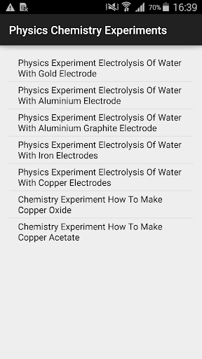 Physics Chemistry Experiments