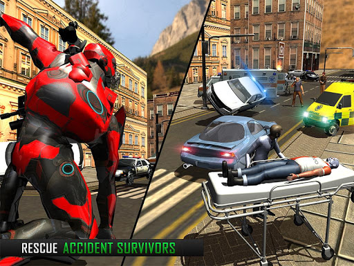 (APK) تحميل لالروبوت / PC Flying Robot Grand City Rescue ألعاب screenshot