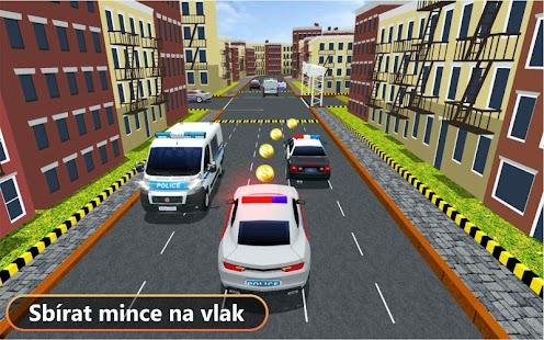 policie auto město závodění - náhled