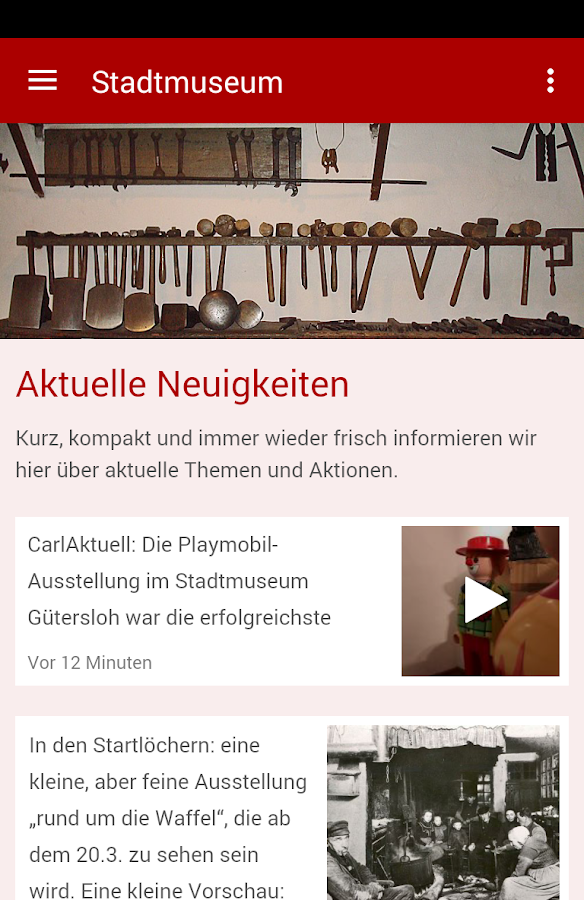 Stadtmuseum Gütersloh- screenshot