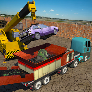 Monster Car Crusher Crane 2k17 City Garbage Truck