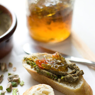 chicken liver mousse with Gaziantep pistachios