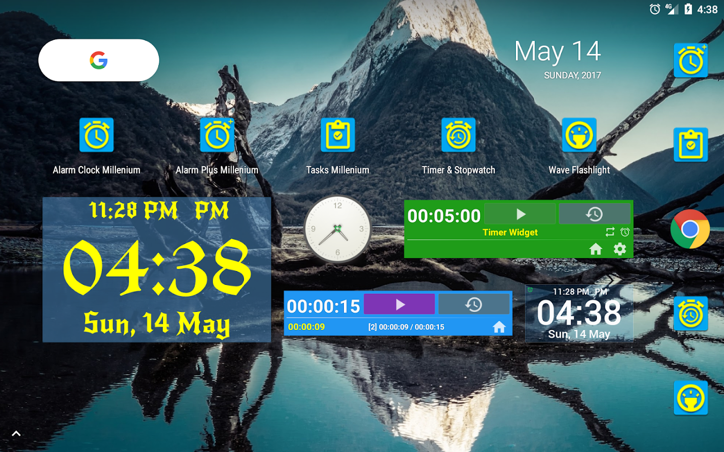 Alarm Clock + Timer + Stopwatch- screenshot