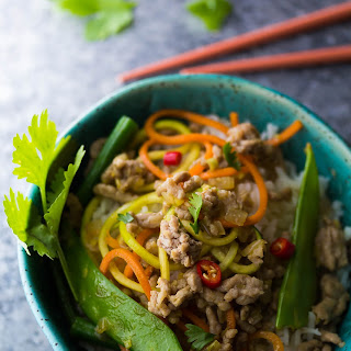 Lemongrass Thai Ground Pork Stir Fry.