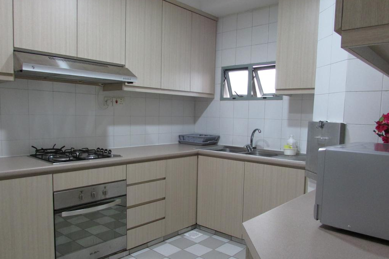 Full kitchen at West Coast Road Apartments, Clementi