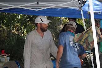 Photo: Dr. Ryan Duggins, at the Page-Ladson site (June 2012).