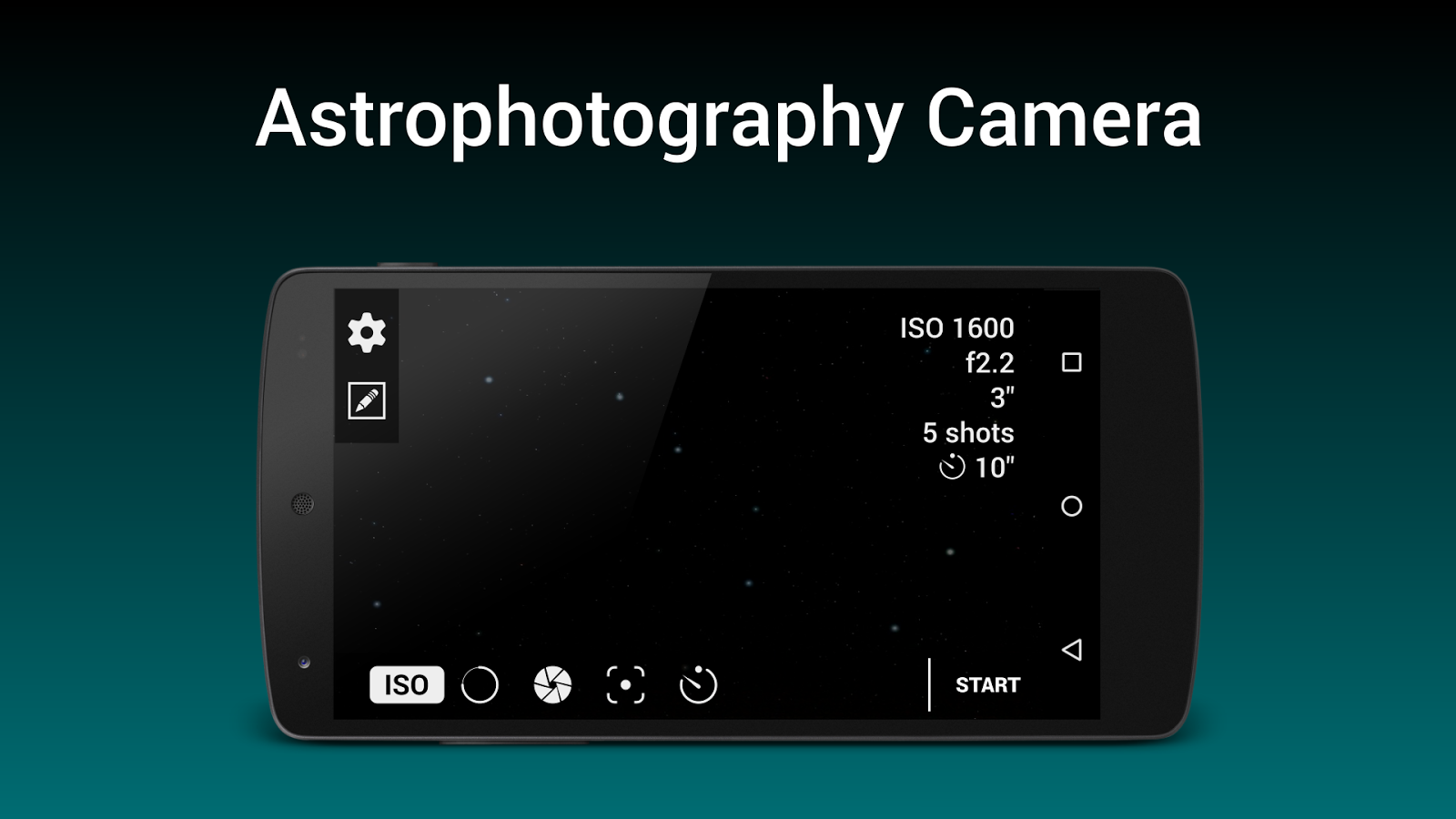 Astrophotography Camera Lite- screenshot