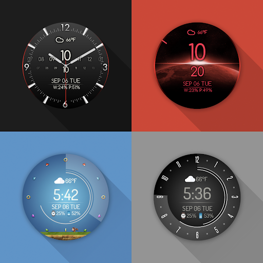 Screenshot for Watch Face - Minimal & Elegant for Android Wear OS in Hong Kong Play Store