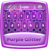 Purple Glitter Keyboard Theme