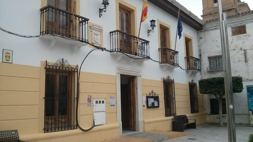 Fachada del Ayuntamiento de Cantoria.