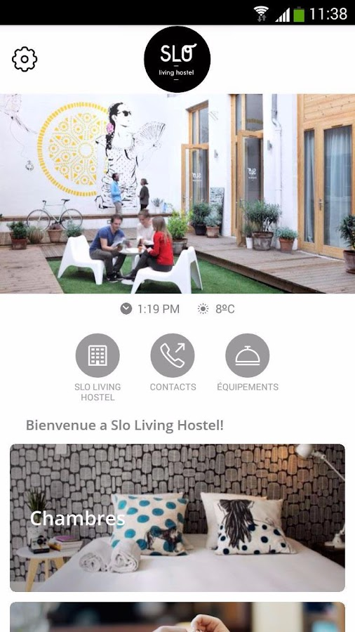 Slo living hostel – Capture d'écran