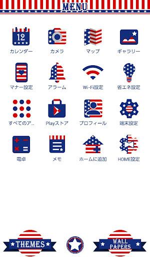 無料个人化AppのUSA Flag Heart 壁紙きせかえ HotApp4Game