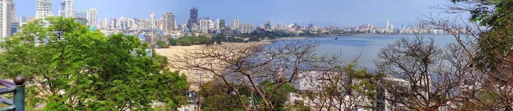 Photo: View of Mumbai from the Hanging Garden