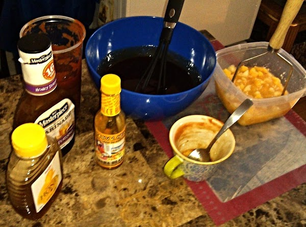In a separate bowl, whisk together the rest of rib sauce ingredients.