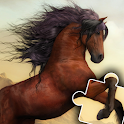 Horse games and Pony jigsaw puzzle for kids 🐎🐴🧩 icon
