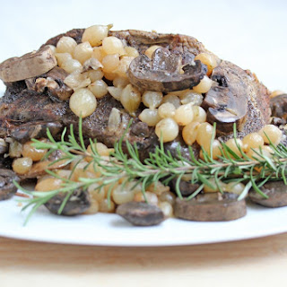 Beef Roast with Mushrooms and Pearled Onions