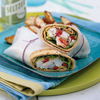 Lobster Wraps with Lemon Mayonnaise.