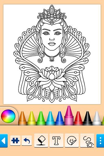 Mandala Coloring Pages filehippodl screenshot 3