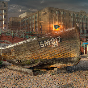 Brighton by Karen Peirce - Transportation Boats ( hdr photography )