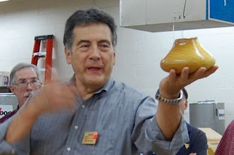 Photo: Clif with his own interesting natural-edge vessel.