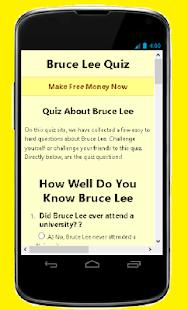 How Well Do You Know Bruce Lee- screenshot thumbnail